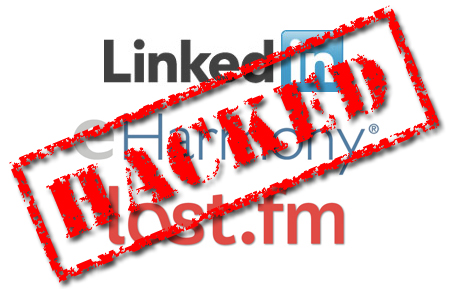LinkedIn eHarmony last.fm hacked - NJ Small Business Security Consultants
